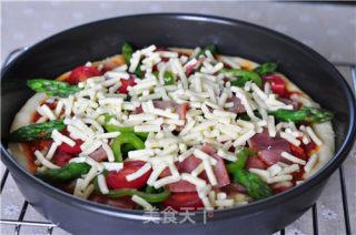 培根彩蔬薄脆披萨