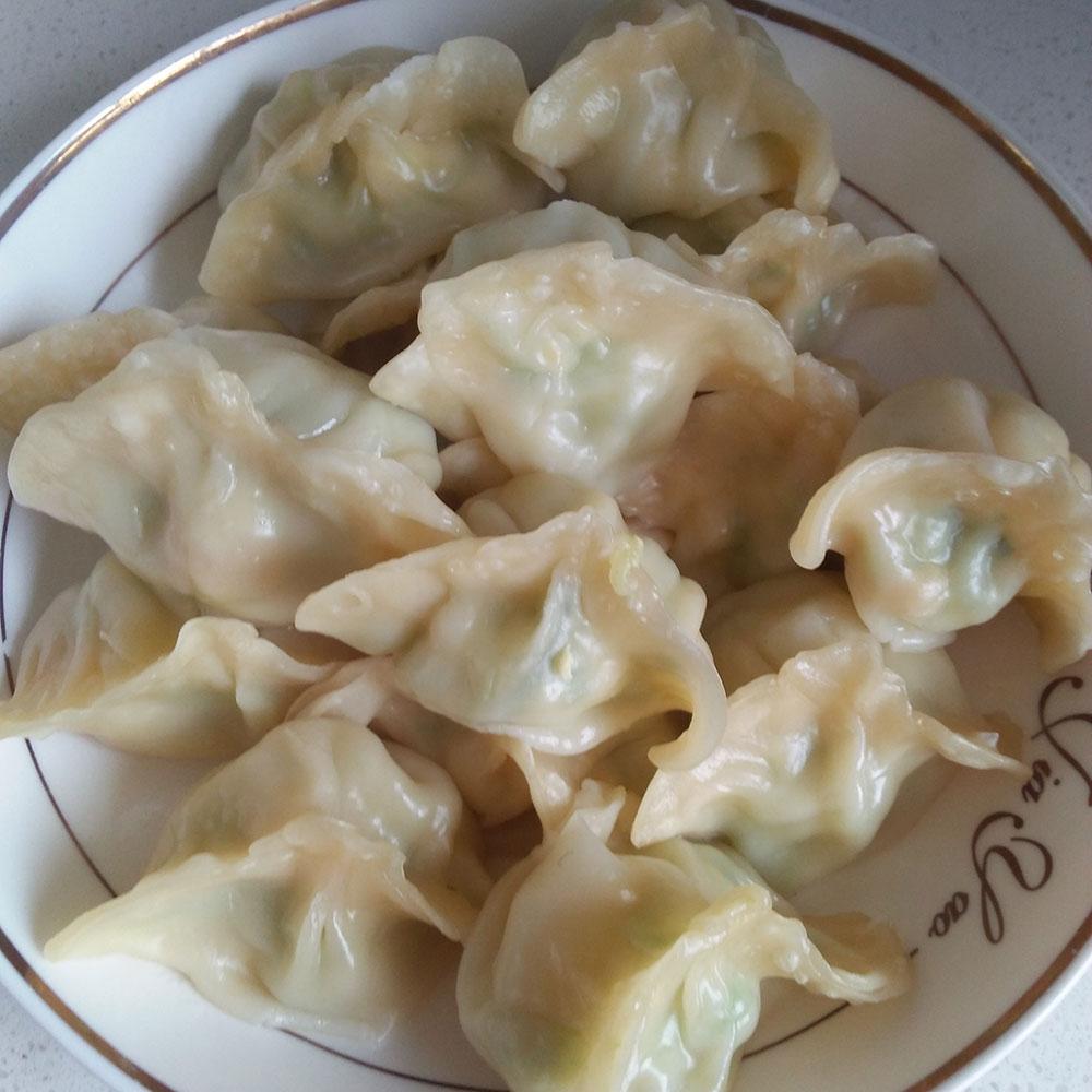 虾仁茭瓜鸡蛋饺