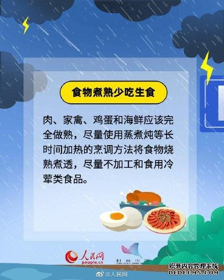 你一定要知道!暴雨后饮食安全指南